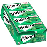 Trident Sugar Free Gum,?Spearmint,18-Count (Pack of 12)