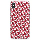 Coque pour Apple iPhone X, côtés silicone Transparent Minnie knot par Disney
