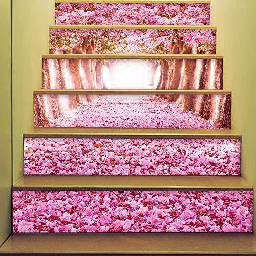 Home Arts Treppenaufkleber Decals Removable Self Addive Cherry Blüten PVC Wasserdicht Treppen Tapeten Für Wohnzimmer-Dekoration 6Pcs/Set - Cherry Home Bar Set