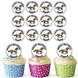 Vorgeschnittenes Personalisiertes Bauernhof Pferd - Essbare Cupcake Topper / Kuchendekorationen (24 Stück)