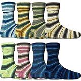 8x 100g Comfort Sockenwolle Paket Blütenwiese - 800g Sockenwolle sortiert