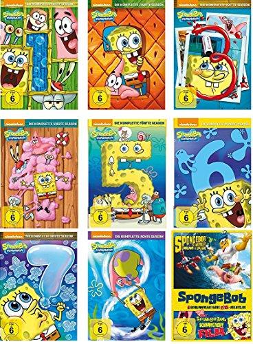 SpongeBob Schwammkopf - Season 1-8 + Kinofilm-Box (Film 1 + aus dem Wasser) im Set - Deutsche Originalware [28 DVDs] (Box-sets Komplette)