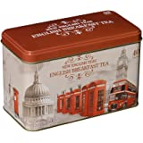 New English Teas - English Breakfast Tea 40 Tea Bags - British Vintage Tin
