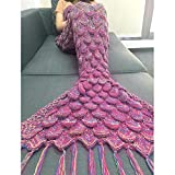 Mermaid Tail Blanket with Scales YISILIC Cozy Sofa - Best Reviews Guide