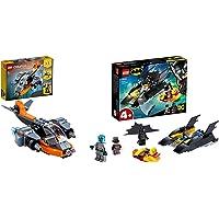 LEGO Creator 3 In 1 Cyber-Drone, Cyber-Mech, Cyber-Scooter & Super Heroes Dc Batman All'Inseguimento Del Pinguino Con La…