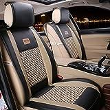 FREESOO Funda para los asientos del coche y protector de los asientos del coche PU cuero Cojines Esterilla delanteros trasero 10 piezas set