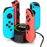 Chargeur pour Switch/Switch OLED Manettes Joy-Con, innoAura Support de Chargeur 4 en 1 pour NS Switch Joy-Con avec indication