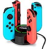 Stazionamento di ricarica per NS Switch Joy-Con, innoAura supporto per caricabatterie 4 in 1 Switch Joy-Con con…