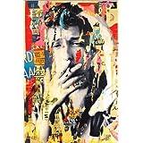 Cuadro sobre lienzo 80 x 120 cm: Bob Dylan de Michiel Folkers - cuadro terminado, cuadro sobre bastidor, lámina terminada sobre lienzo auténtico, impresión en lienzo