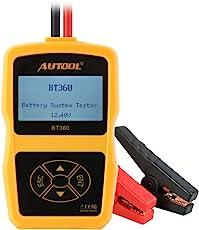 Autool BT360 Upgraded 12 V KFZ Batterie Tester Batteriestatus Prüfgerät Startstrommessgerät CCA 100-2400
