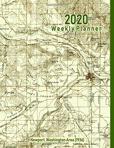 2020 Weekly Planner: Newport, Washington Area (1936): Vintage Topo Map Cover -