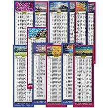 Diario Biblia Lectura horario por mes–cuatro conjuntos (24Total tarjetas) (2,75x 8,25)