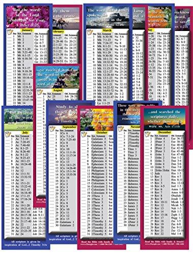 Tägliche Bibel Lesen Schedule für Monat–Vier Sets (24Karten) (2x 6) (Teen Lesen)