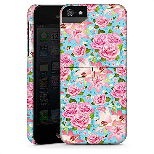 Apple iPhone X Silikon Hülle Case Schutzhülle Rosen Frühling Flower Premium Case StandUp
