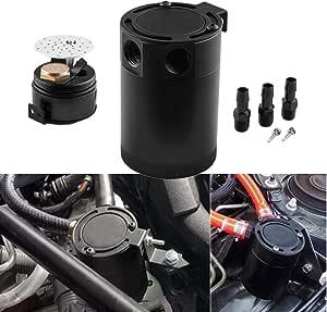 Fansport Oil Catch Kann 3 Port Ölfang Tank Auto Öl Reservoir Auto Supplies Sport Freizeit