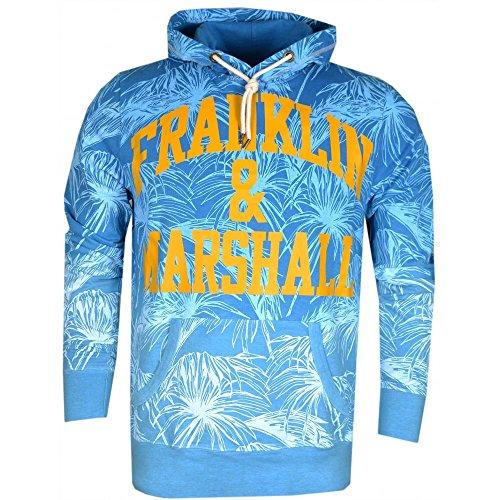 Franklin & Marshall -  Felpa con cappuccio  - Uomo Atlantic Blue