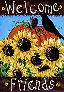 """Toland Home Garden Welcome Friends House Flagge, House-L-28 x 40"""""""