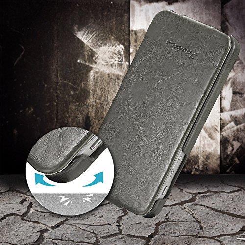 tinxi® Housse PU cuir Etui en simili cuir pour Apple iPhone 6 plus (5.5 pouces) coque protection cover case iphone 6 Plus Housse Etui Couverture arrière avec fente carte Design en Brun noir