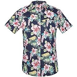 Camisa Hawaiana Manga Corta para Hombre (J, M)