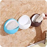 #10: Ruon DealsTM 1Pc Colour Suction Cup Soap Dish Plate Round Shape Case Storage Holder Drain Dish Wall Mounted Bathroom Accessories