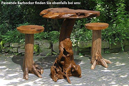 LioLiving, Bartisch Wurzel aus massivem Teak-Wurzelholz (#400000) - 3