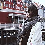 LFJY Damenmode Winter warm Lattice grossen Schal Imitation Cashmere Schal Frauen Paar Schal, Hanf, grau