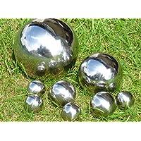 Set of 8 Decorative Silver Ball diameter: 15 CM, diameter: 10 CM, Ø: 6 CM, diameter: 4 CM Stainless Steel Sphere Ball Sphere Teichkugel