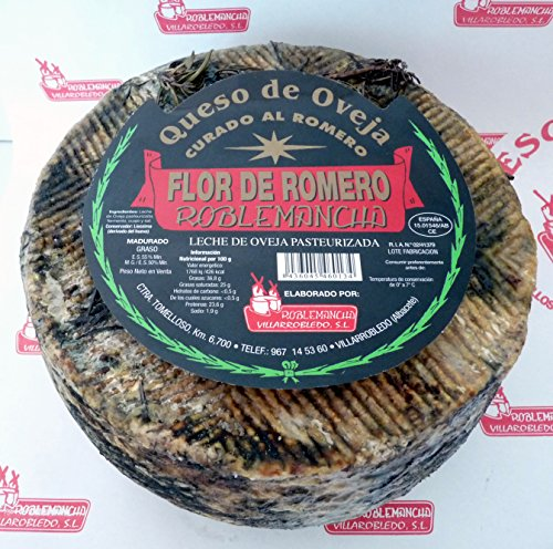 Queso de oveja curado al romero 'Flor de Romero' Roblemancha 2 kg