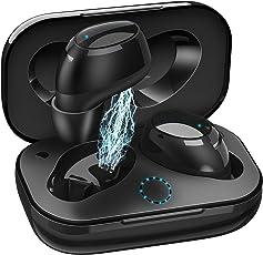 Bluetooth Kopfhörer True Wireless TWS Stereo Bass Kopfhörer,DigiHero 5.0 Bluetooth Ohrhörer Mini Bluetooth SoundBuds Schweißfestes Wireless Headset IP55 mit Mikrofon und Ladebox für iOS and Android