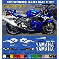 Adesivi Yamaha YZF-R6 YZF R6 (2003) sticker kit compatibile carena blu Cod. 0388