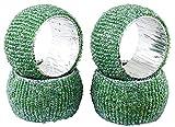 Best Cadeaux RoyaltyLane Adultes - ensemble de 4 - perles vert anneaux ronds Review