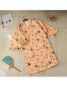 Bearony Cozy - Albornoz de Invierno para Hombre, diseño de Pijama, Amarillo, Large