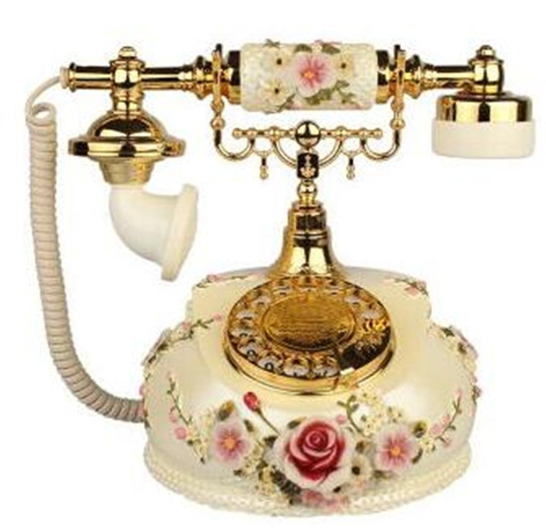 HJXJXJX La rotazione del disco telefono antico / Pastorale retro telefono / fisso Vecchio stile anti