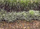 Zaunsichtschutz, Windschutz (27 versch. Motive) für Doppelstabmattenzaun *Steinmauer* einseitig, 19cm, 9 Streifen