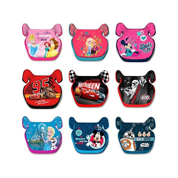 Child Car Booster Seat Group 2/3 (15-36 kg) Genuine Disney (Cars) Sola Genuine Disney Cars Childs Car Seat Booster. Comfortable car seat designed for children weighing 15 to 36 kg. Made of high-quality materials and decorated with graphics. The product complies with the ECE R44 / 04 standard. Group 2-3. The seat cover can be removed completely and washed at 30°C. 2