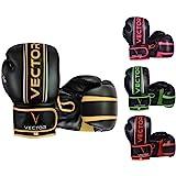 Vector Sports, guantoni Realizzati a Mano in Pelle Bovina Maya, Stile Professionale, da Boxe, Kickboxing, Allenamento con Sac