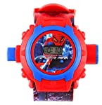 VE Digital 24 Images Spiderman Projector Watch for Kids, Diwali Gift, Birthday Return Gift (Color May Vary)