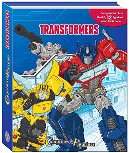 Transformers Comptines Et Figurines - Coffret Livre Avec 12 Figurines + Tapis De Jeu