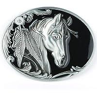 Horse Head Buckle, Men's Belt Buckle Western Cowboy Leaf Horse Head Belt Buckle for Men, Women, Fit for 1.5 inch Belt