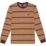 HUF Maglia Maniche Lunghe Righe Houndstooth Stripe L/S Knit Deep Mahogany Originale New Edition 2021