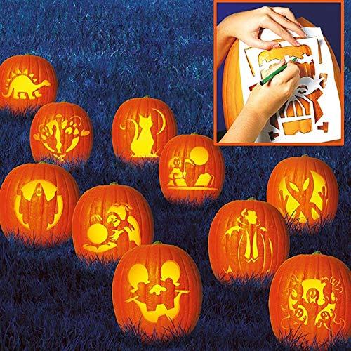 Schablonen-Set für Halloween 10 Stück 27x19cm ()