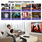 4500 Lumen HD Video Projector WXGA -1080P Support Dual HDMI & USB Multimedia LCD Image System Home Theatre Projectors 150 Widescreen for Computer DVD Player Laptop Outdoor Basement Movie Party