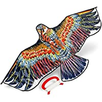 Cometa de águila Grande y Resistente. Perfecta para niños y Adultos. Ideal para Hacer Volar en Parques, Playas y Espacios Abiertos