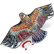 Cometa de águila Grande y Resistente. Perfecta para niños y Adultos. Ideal para Hacer