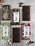 Lujoso Orgánico Chocolate vegano Conjunto para obsequio 3 sabores chocolate negro/pistachos y sal/rosa y pimienta negra
