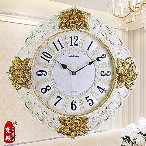 Europa e la grande annata Orologi da parete meravigliosamente semplice Creative Design Soggiorno moderno muro orologio orologio da tavolo,orologio 20 pollici,5555 Platinum Crack