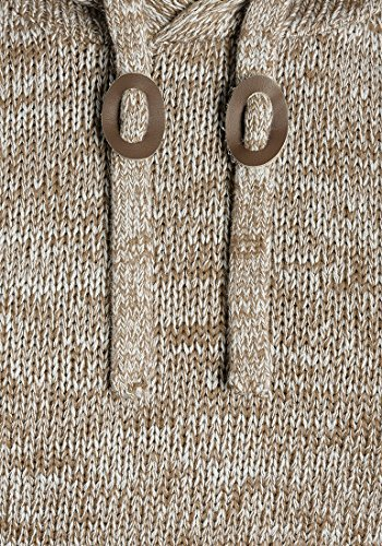 SOLID Pluto Herren Kapuzenpullover Strickhoodie aus 100% Baumwolle Meliert Dune (5409)