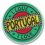 2 x 30cm/300 mm Lisbonne Portugal Autocollant de fenêtre en verre Voiture Van Locations #9782