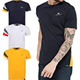 Crosshatch Mens Top T-Shirt Lydre Short Sleeve Casual Look Contrast Panel S-XXL