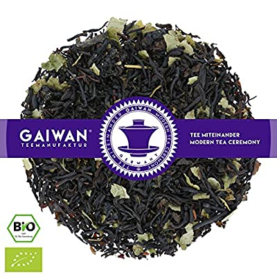 """N° 1128: Thé noir bio """"Cassis"""" - feuilles de thé issu de l'agriculture biologique - GAIWAN® GERMANY - thé noir d'Inde, groseille rouge, groseille rouge"""